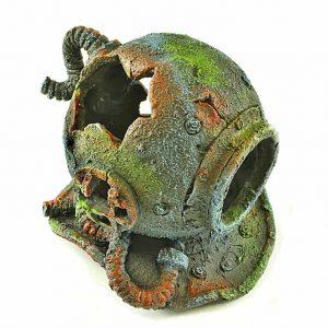 Military Divers Helmet Aquarium Ornament