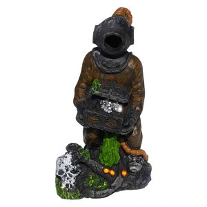 Deep Sea Diver Aquarium Ornament With Bubbler Attachment