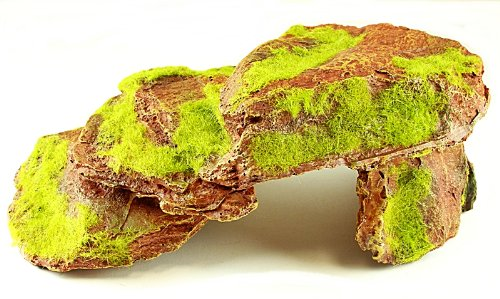 Rock With Moss Aquarium Ornament