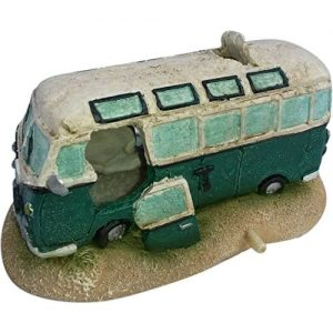 Green VW Camper Van