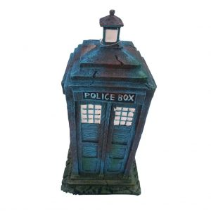 Small Police Box Aquarium Ornament