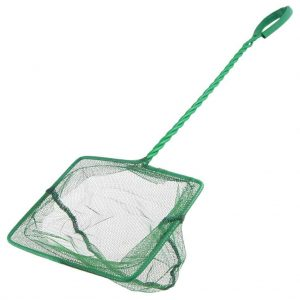 Aquarium Fish Net With Wire Handle 10 Inch Square