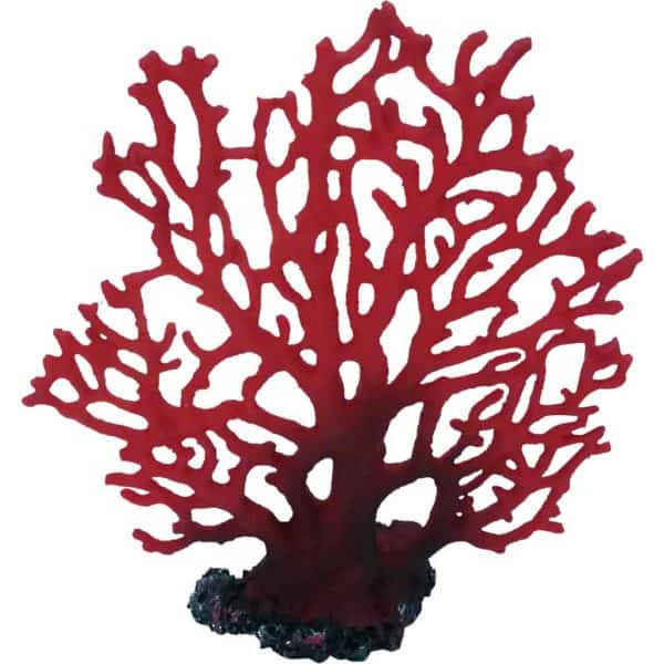 Red Fan Marine Coral Artificial Decoration