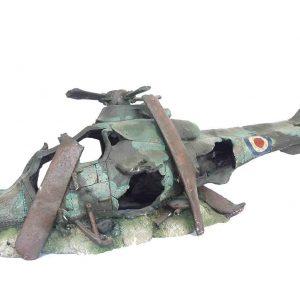 xl Helicopter Wreck aquarium ornament.