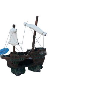 shipwreck with sails