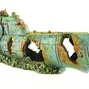 Extra Large Submarine Aquarium ornament