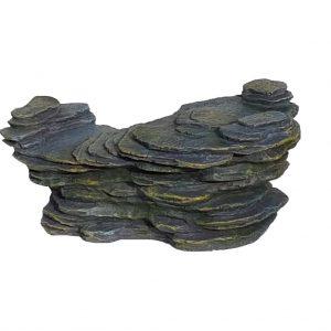 Rock Ledge With Moss Effect Aquarium Ornament
