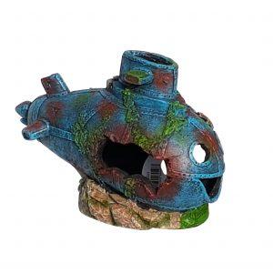 Comic Submarine Aquarium Ornament