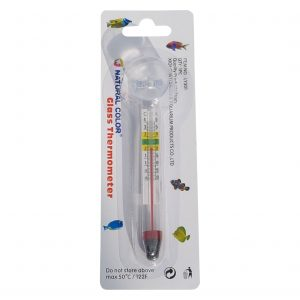 Glass Aquarium Thermometer with Suction for Fish Tank
