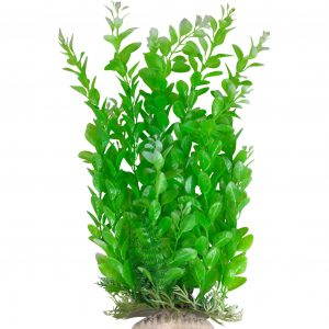 Green Aquarium Plant with Base 12 Inch Tall