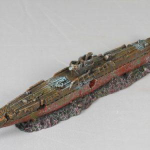 Military Submarine Aquarium Ornament