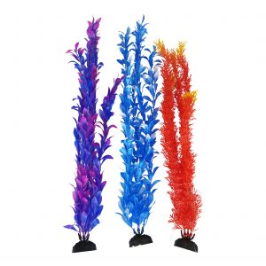 Plastic Aquarium Plant multi-pack, very Lifelike and Natural looking easily blends into any Fish tank.