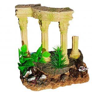 Roman Columns Ruins with Plants