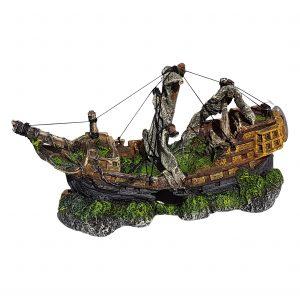 Mast Shipwreck Galleon Aquarium Ornament