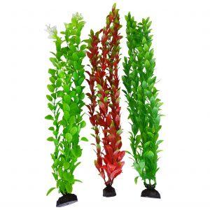 Green & Red Seaweed Aquarium Plants 15-16 Inch