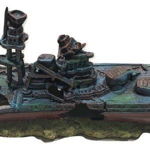 XL WW2 Battleship Aquarium Ornament