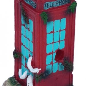 British Red Phone Box Aquarium Ornament