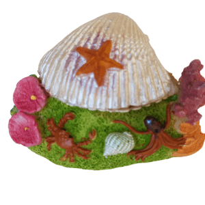 Colorful Shell Action Aquarium Ornament