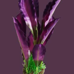 Betta 8'' Purple Silk Plant With Sand Base