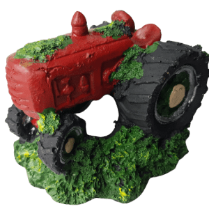 Red Tractor Aquarium Decoration