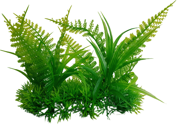 6 Inch Wide Artificial Aquarium Fern Ornament